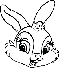 Coloring Pages Of Rabbits To Print Easter Bunny Eggs Printable Sisters Miss Face Full Size