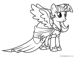 My Little Pony Princess Twilight Sparkle 02 Coloring Page Alicorn