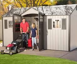 lifetime 15x8 new style storage shed kit w floor 60138