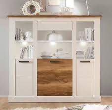 details zu highboard weiß pinie nussbaum satin wohnzimmer kommode esszimmer schrank toronto