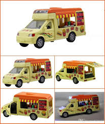 100 Toy Ice Cream Truck Simulation Car Alloy Model S Flashing Sounding