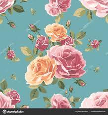 Vintage Floral Background Vector Illustration By Kateshe