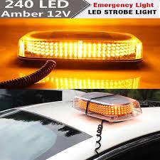 240 LED Car Roof Top Truck Beacon Lights Bar Hazard Strobe Warning ...