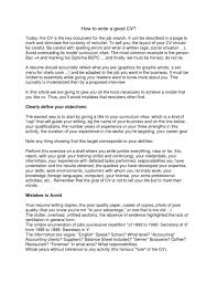 100 How To Write A Good Resume 1415 How To Start Writing A Resume Sangabcafecom