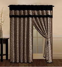 Safari Decor For Living Room by Amazon Com Brown Curtains Leopard Print By Ambesonne Animal Skin