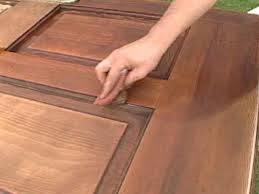 Restaining A Deck Do It Yourself by How To Refinish A Solid Wood Door How Tos Diy