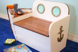 nautical boat toy box with bench a toy box the kids can sit on