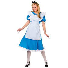 ladies storybook alice film fancy dress up party halloween costume