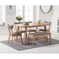 essgruppe mit ausziehbarem tisch 4 stühlen und 1 bank