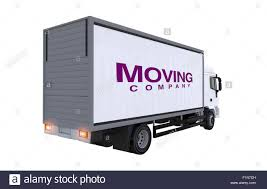 100 Moving Truck Company Illustration Cargo Rear View Stock Photo