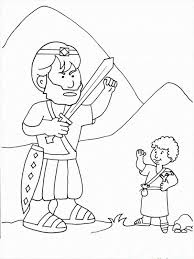 David And Goliath Coloring Pages Picture 11 Free Printable