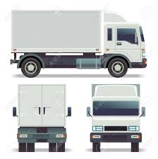 Small Truck Front, Back And Side View For Cargo Transportation ...