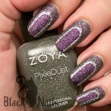 NOTD Purple & Grey Abstract Zoya Pixie Dust Nail Art