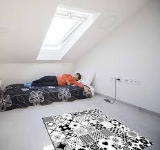 schwarz weiß fliesen schlafzimmer vinyl teppich