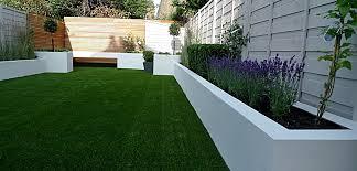 Modern London Garden Design White