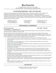 Accounting Objectives Resume Sample