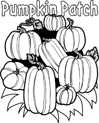 Pumpkin Patch Printable Cute Coloring Pages
