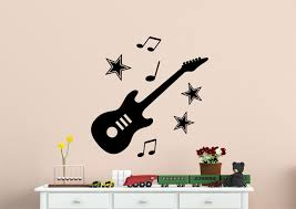 Guitar Wall Art Express Stickers Shop For Nursery Baby With Stars And Musical Notes