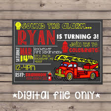 100 Fire Truck Template Birthday Party Invitation S Free Envelopes First