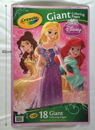 Disney USA Products Princess Creyola Large Format Coloring Book Giant Color Ring