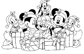 Classy Mickey Mouse Christmas Coloring Pages And Minnie Singing Under The Tree 1000