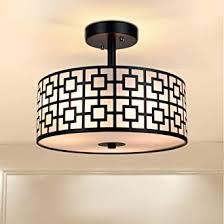 depuley led deckenleuchte wohnzimmer schwarz mit 3 e27 basis glühbirne nicht inkl deckenle küche metall aluminum mit stoffschirm rund für