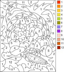 Thanksgiving Coloring By Number Pages