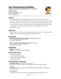 Cover Letter Best Resume Samples For Logistics Manager Inspirational