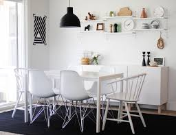 ikea besta planner for a scandinavian dining room with a dining