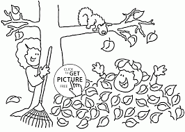 Fall Fun Time Coloring Pages For Kids Seasons Printables Free