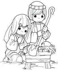 Free Printable Nativity Coloring Pages Kids Manger Scene Christmas Story