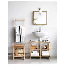 rågrund waschbecken eckregal bambus 34x60 cm