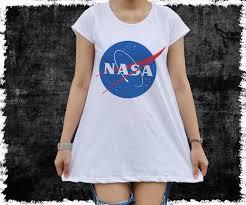 Vintage Style NASA Logo T Shirt