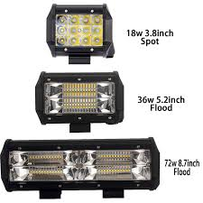 2x tri row led light bar 4 5 9 inch led work light offroad