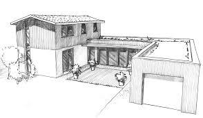 plan maison moderne en u ooreka