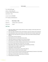 Resume Sample For Housekeeping Job In Hospital New Templates
