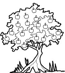 mango tree clipart black and white 4