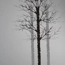 Tree Stencil PA Aspen Bare Birch Painting Wall Stencils