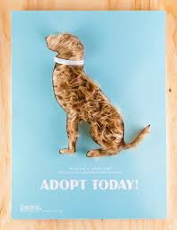 Interactive Poster Design Paws Adoption Campaign Student Project
