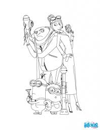 Dispicable Me Coloring Pages Gru And The Minions Hellokids
