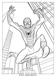 Spiderman Coloring Sheets Pages Kids