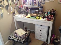 Ikea Micke Corner Desk White by How Do You Store Your Samples Makeup Vanities General