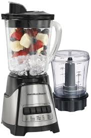 Amazon Hamilton Beach 58149 Blender With Glass Jar For Shakes Smoothies Multi Function Electric Includes Chopper Attachment Countertop