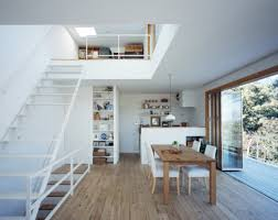Second Floor House Design by Modern Deck House Design From Takeshi Hosaka Architects