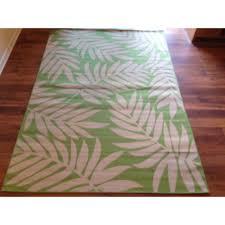 Fleur De Lis Reversible Patio Mats by 28 Deck Rugs Beige Light Green Floral Pool Patio Deck Area