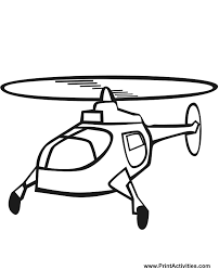 Helicopter Coloring Page Of A In Flight
