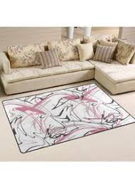bunte abstrakte linie druck bereich teppiche wohnzimmer