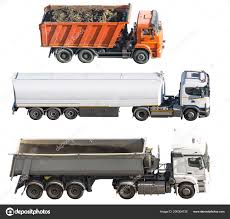100 Different Trucks Three Isolated White Background Side View Truck