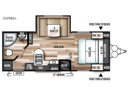 Wildwood Fifth Wheel Floor Plans Colors New 2018 Forest River Rv Wildwood X Lite 232rbxl Travel Trailer At