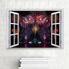 awoo firework wall stickers for room bedroom landscape decals